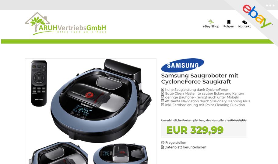 ARUH Ebay Template